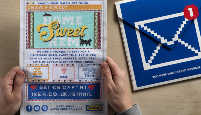 IKEA - cross stitched Direct Mail