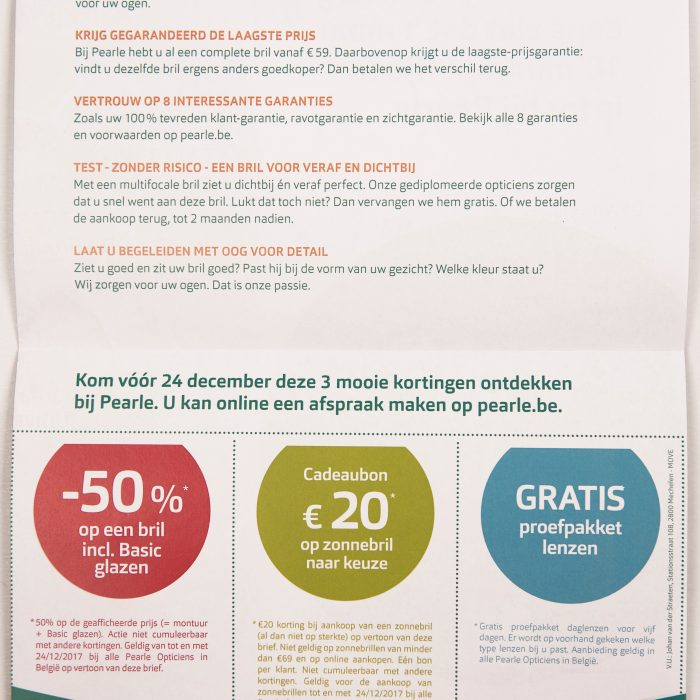 Pearle - targeting - Direct Mail - back