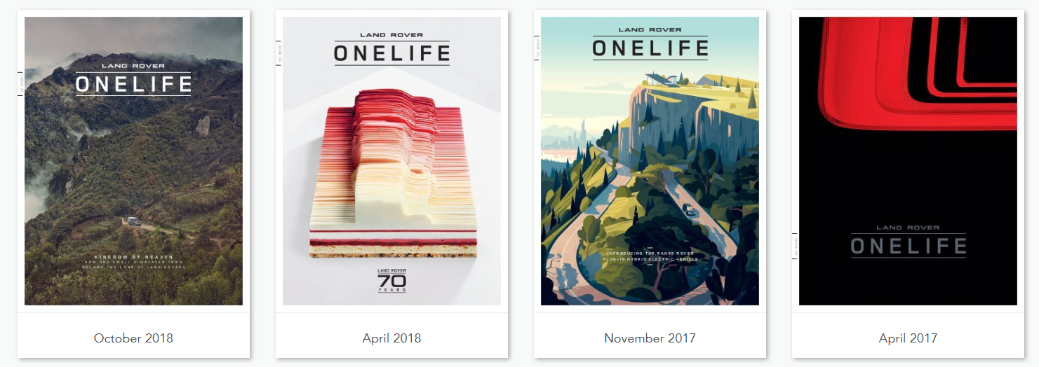 Onelife magazine Land Rover - content marketing case