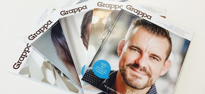 Grappa magazine KBC - content marketing case