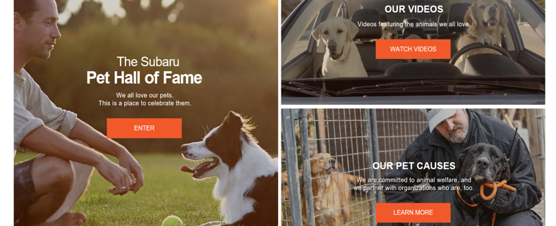 Subaru loves pets - storytelling strategy