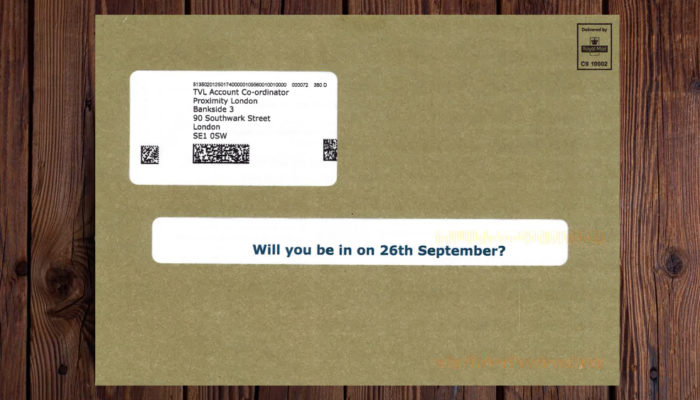 Tv Licensing - Best use of Direct Mail